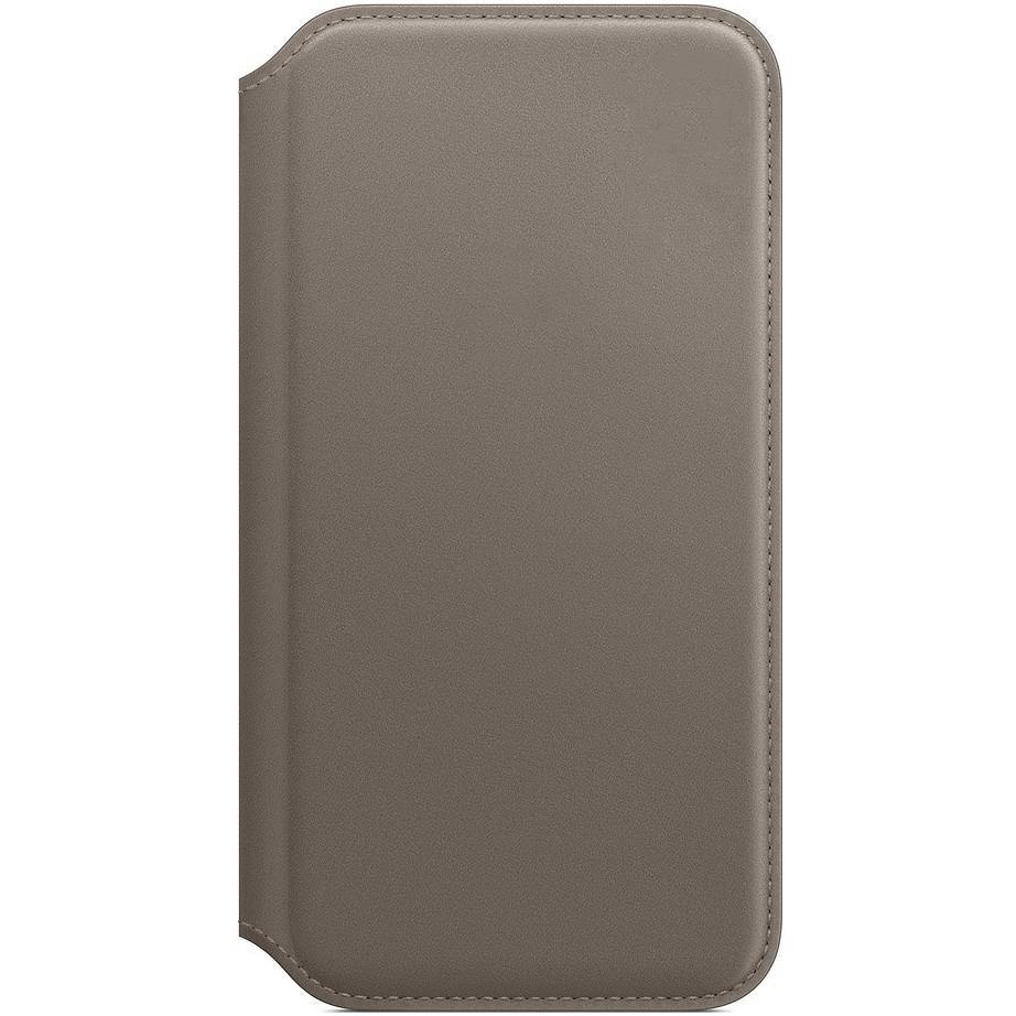 Apple Leather Folio Booktype iPhone X / Xs - Taupe