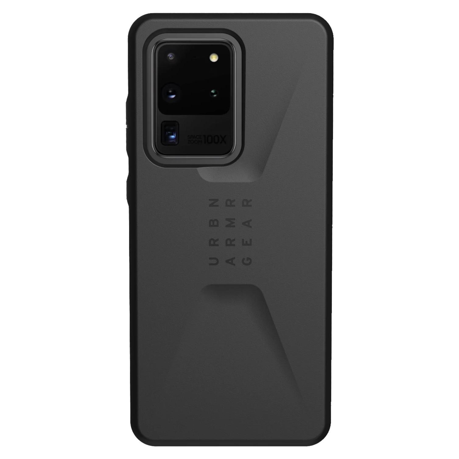 UAG Civilian Backcover Samsung Galaxy S20 Ultra - Zwart