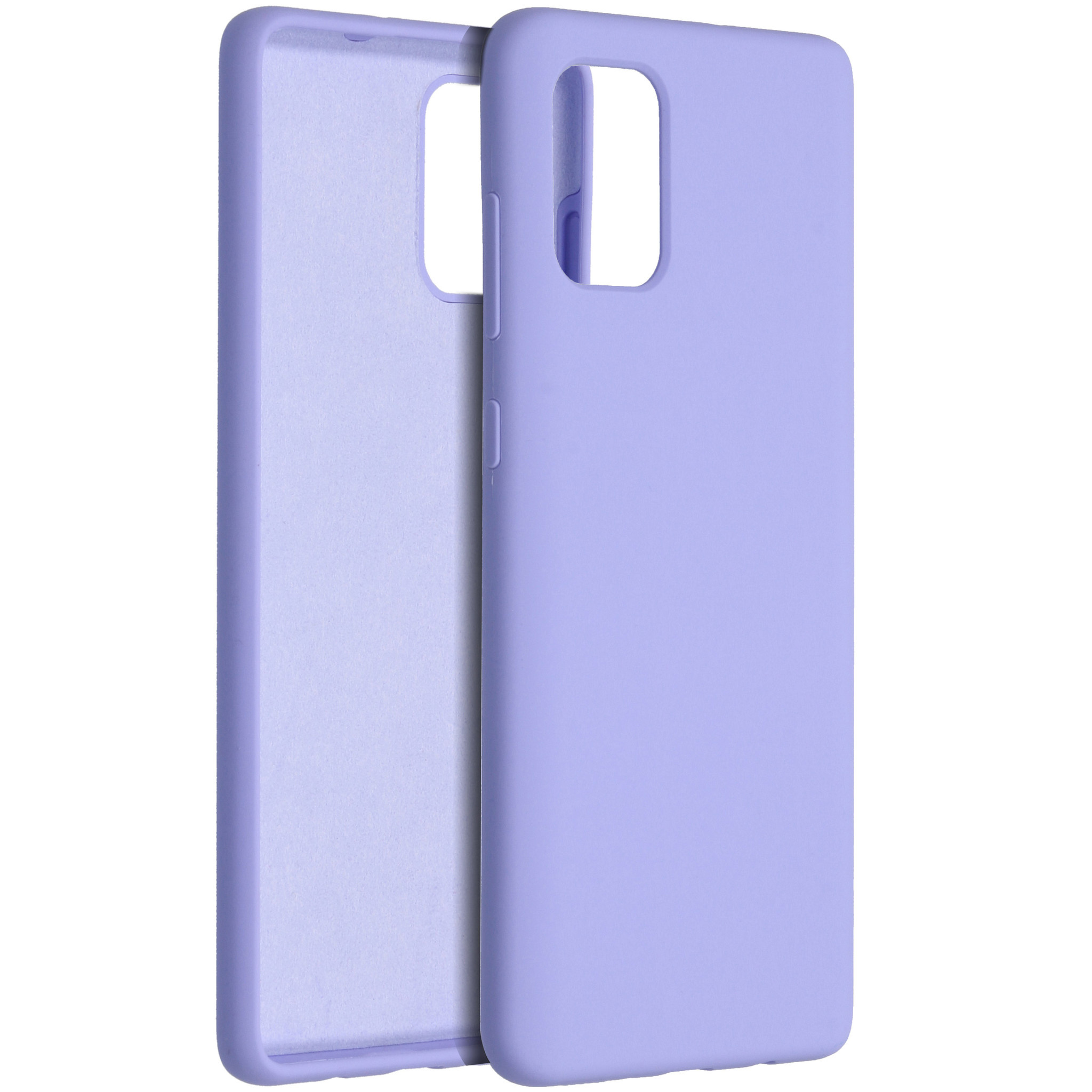 Accezz Liquid Silicone Backcover Samsung Galaxy A71 - Paars