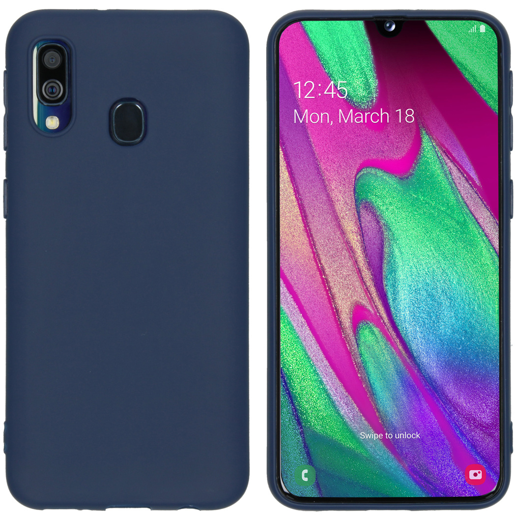 iMoshion Color Backcover Samsung Galaxy A40 - Donkerblauw