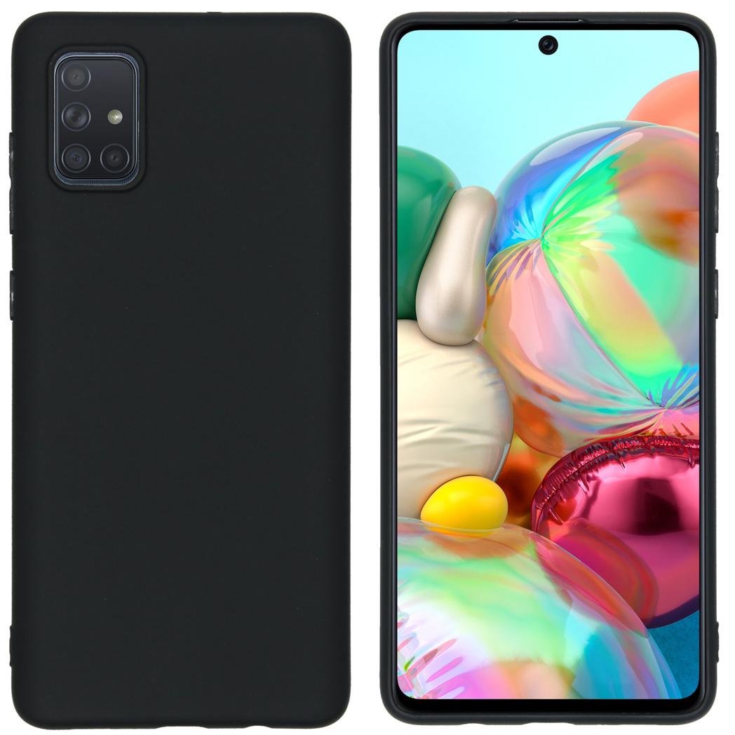iMoshion Color Backcover Samsung Galaxy A71 - Zwart