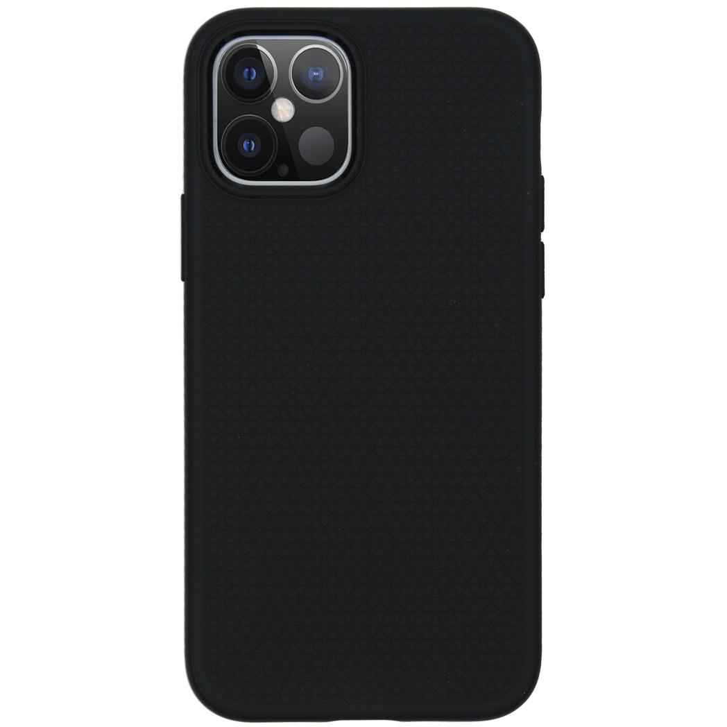 Spigen Liquid Air Backcover iPhone 12 (Pro) - Zwart