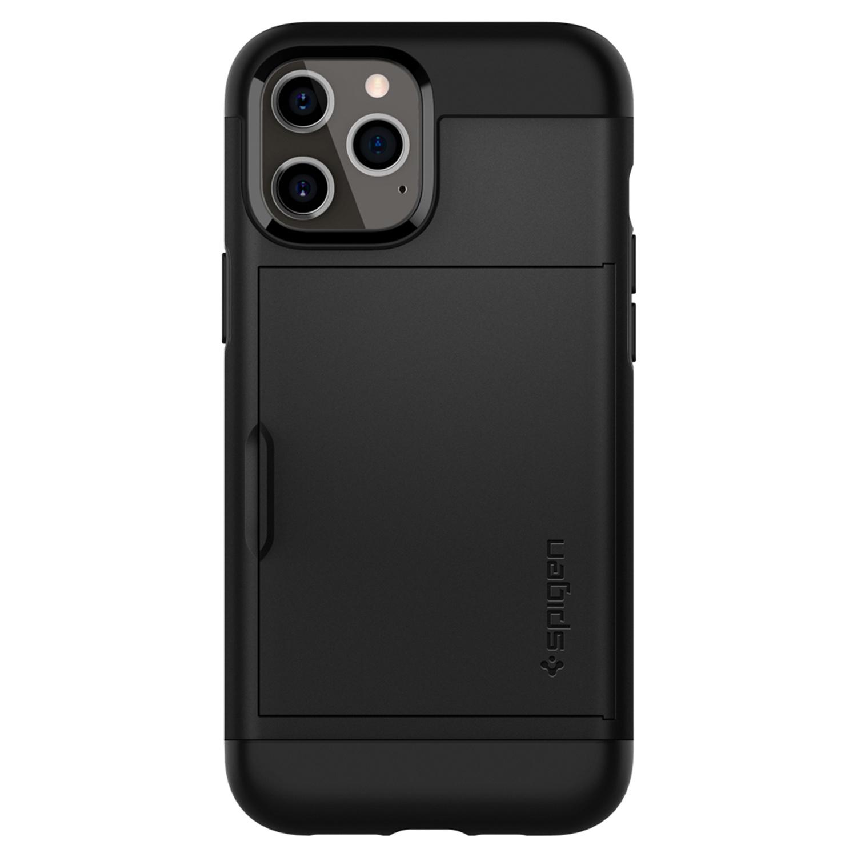 Spigen Slim Armor CS Backcover iPhone 12 Pro Max - Zwart