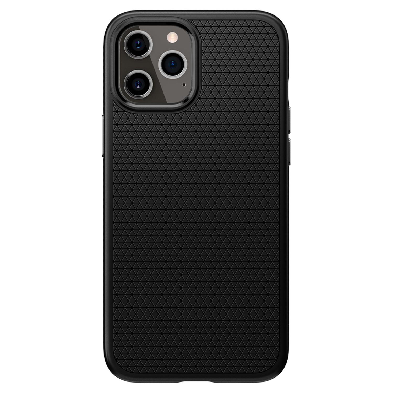 Spigen Liquid Air Backcover iPhone 12 Pro Max - Zwart