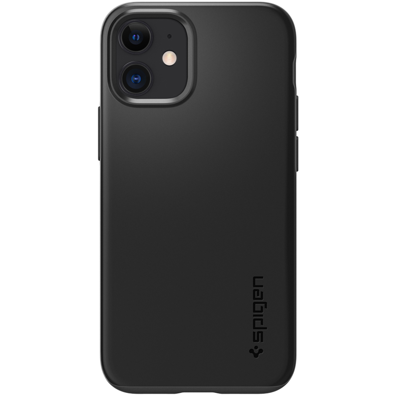 Spigen Thin Fit Air Backcover iPhone 12 Mini - Zwart