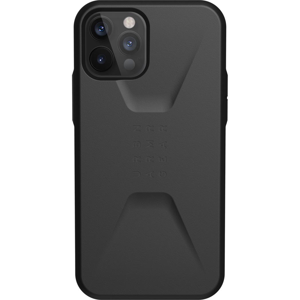 UAG Civilian Backcover iPhone 12 (Pro) - Zwart