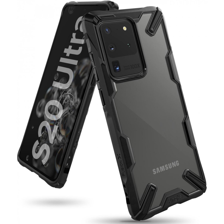 Ringke Fusion X Backcover Samsung Galaxy S20 Ultra - Zwart