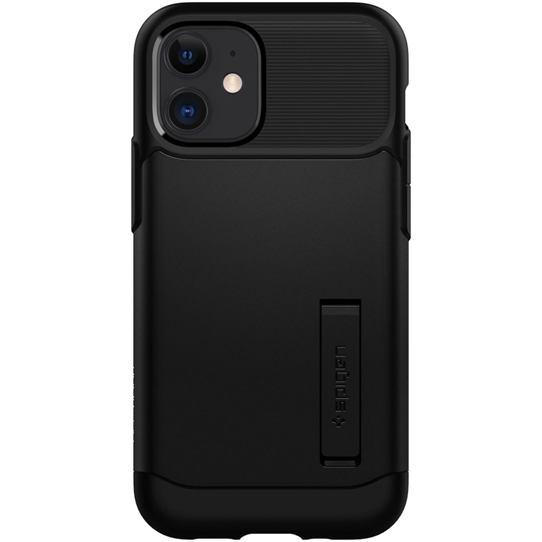 Spigen Slim Armor Backcover iPhone 12 Mini - Zwart