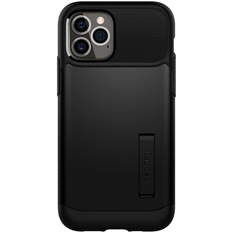 Spigen Slim Armor Backcover iPhone 12 (Pro) - Zwart