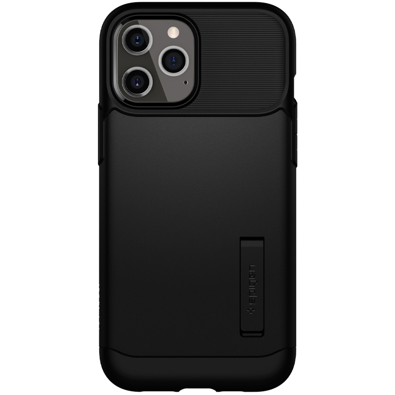 Spigen Slim Armor Backcover iPhone 12 Pro Max - Zwart