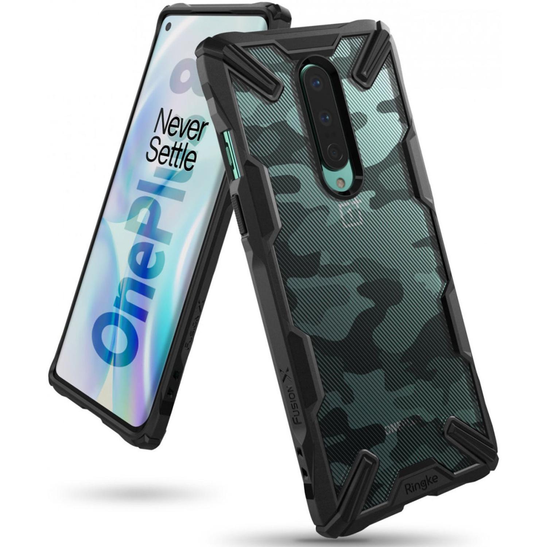 Ringke Fusion X Design Backcover OnePlus 8 - Camo Zwart