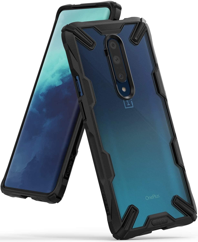 Ringke Fusion X Backcover OnePlus 7T Pro - Zwart