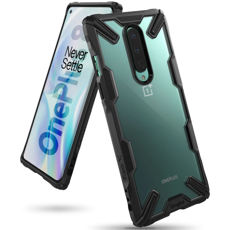 Ringke Fusion X Backcover OnePlus 8 - Zwart