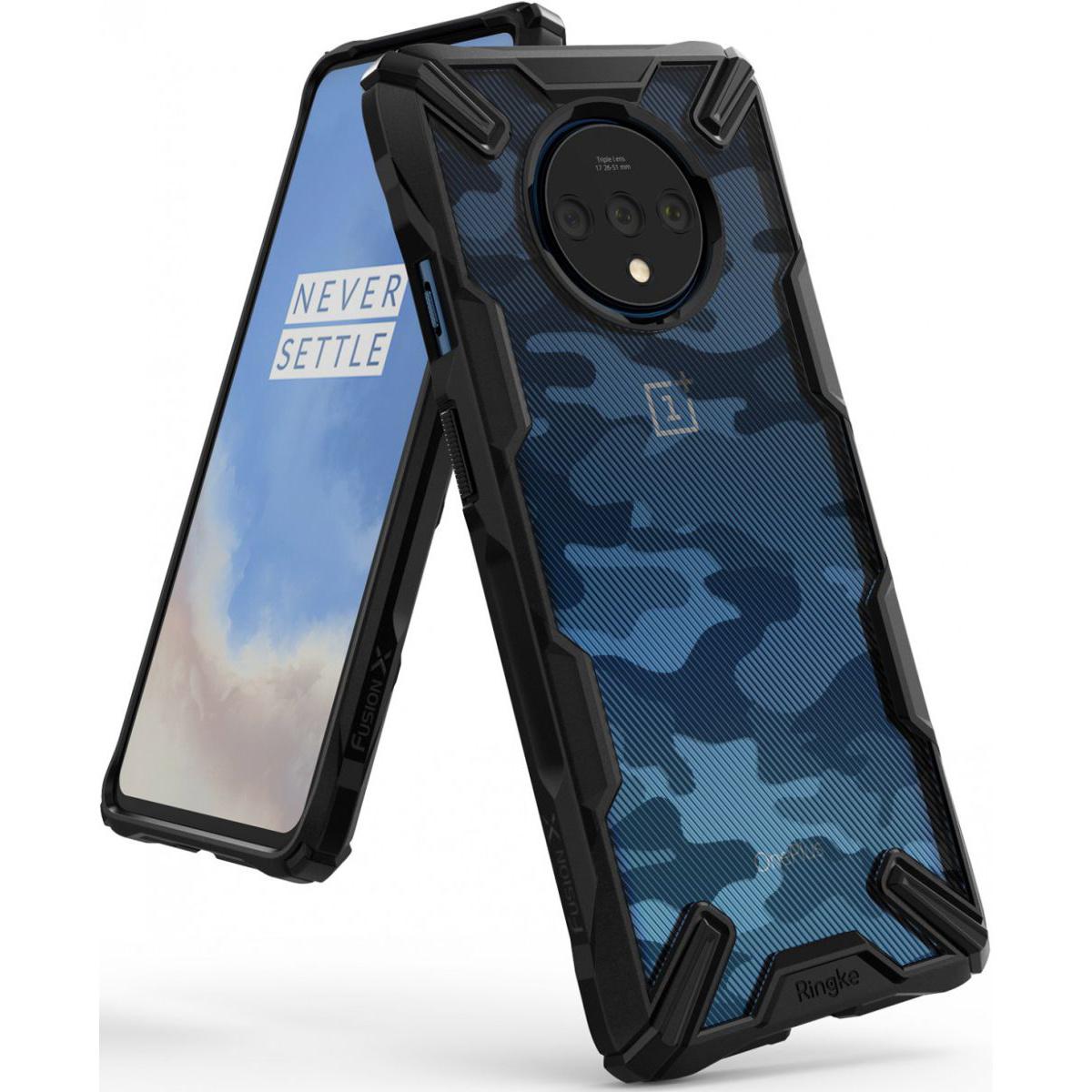 Ringke Fusion X Design Backcover OnePlus 7T - Camo Zwart