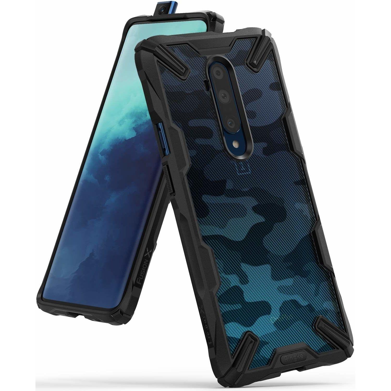 Ringke Fusion X Design Backcover OnePlus 7T Pro - Camo Zwart