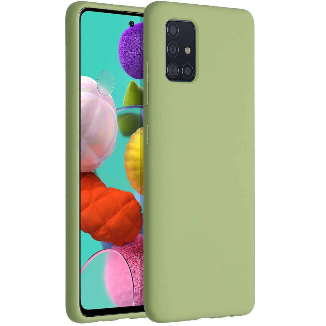 Accezz Liquid Silicone Backcover Samsung Galaxy A51 - Groen