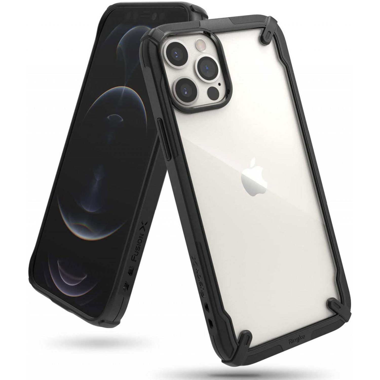 Ringke Fusion X Backcover iPhone 12 (Pro) - Zwart