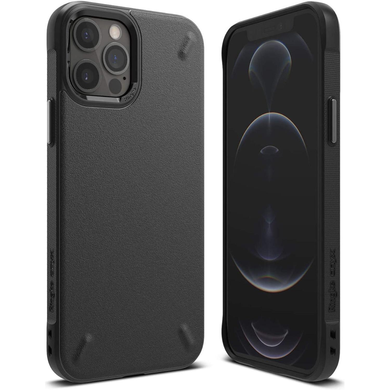 Ringke Onyx Backcover iPhone 12 (Pro) - Zwart