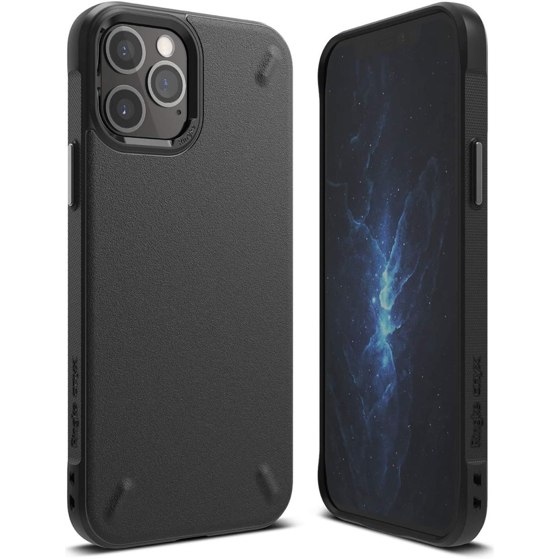 Ringke Onyx Backcover iPhone 12 Pro Max - Zwart