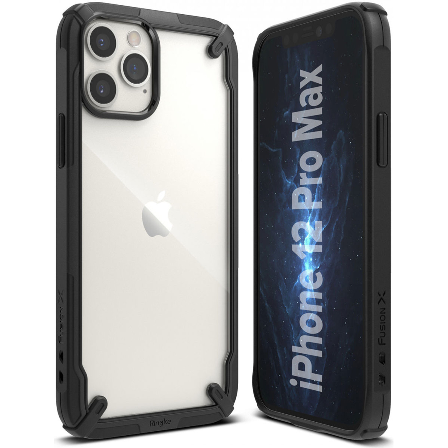Ringke Fusion X Backcover iPhone 12 Pro Max - Zwart