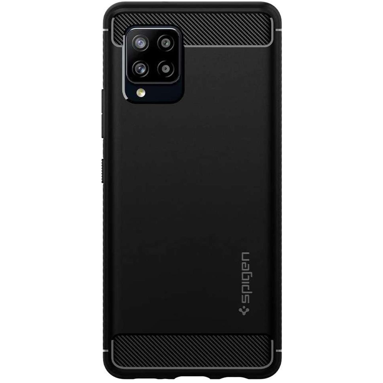 Spigen Rugged Armor Backcover Samsung Galaxy A42 - Zwart