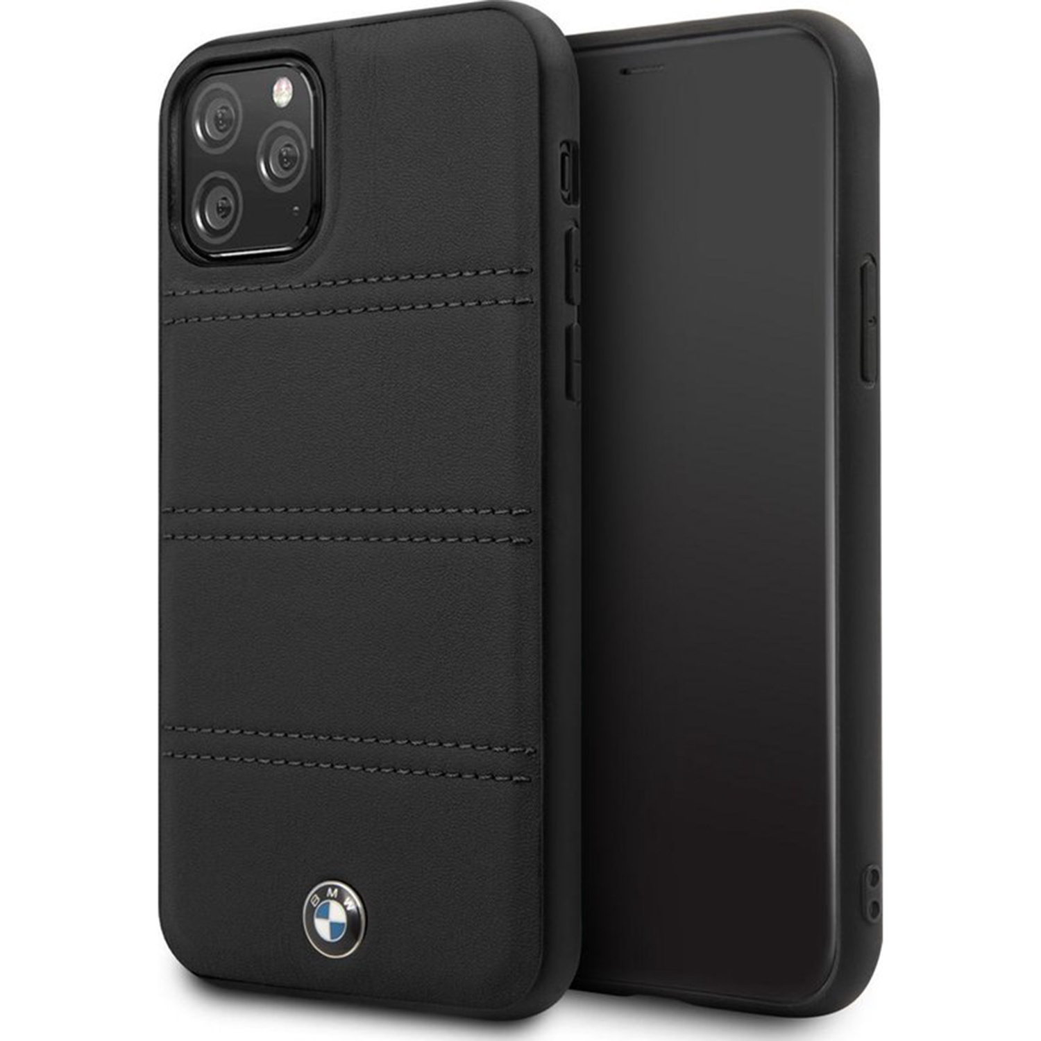 BMW Leather Backcover iPhone 11 Pro Max - Zwart