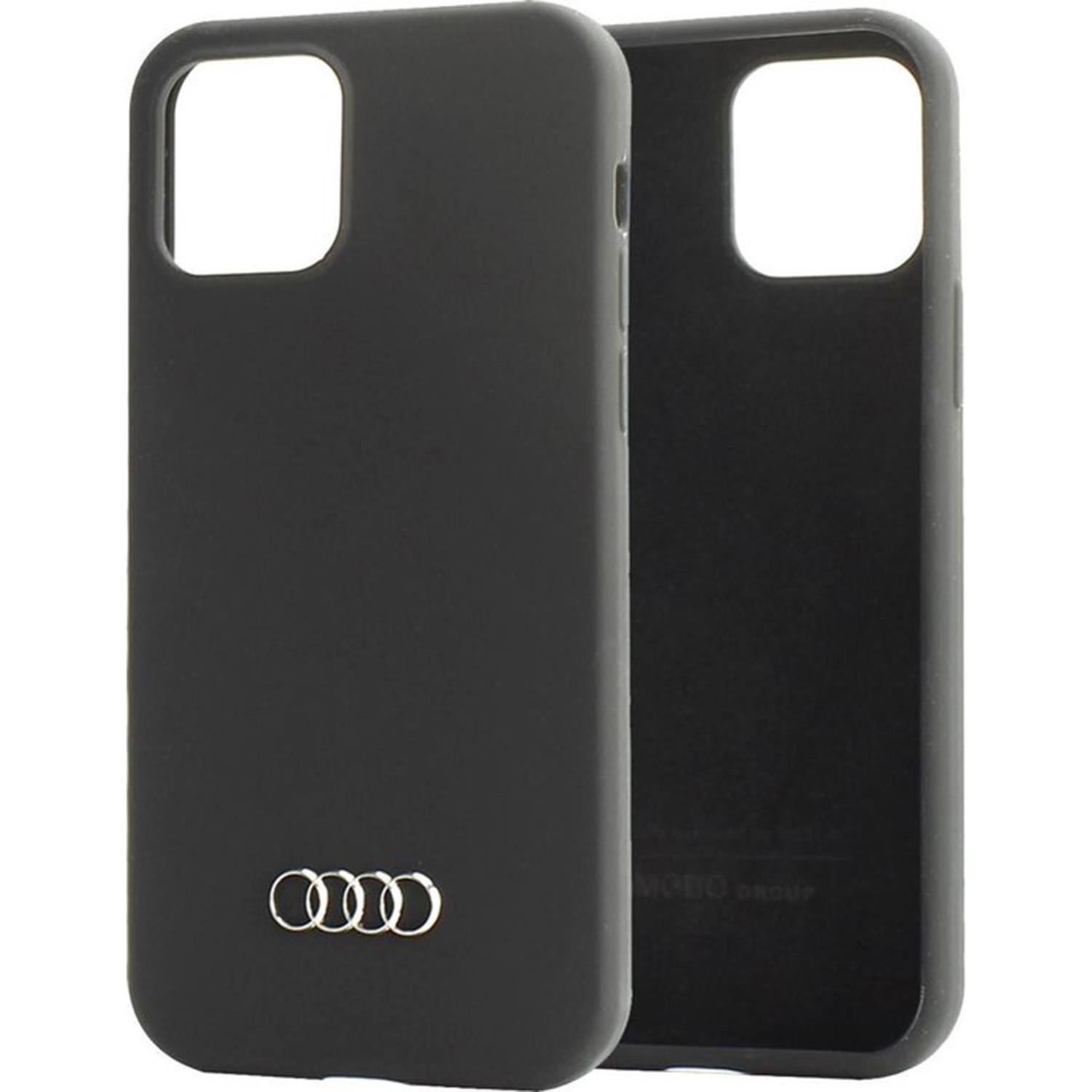 Q3 Silicone Backcover iPhone 12 (Pro) - Zwart