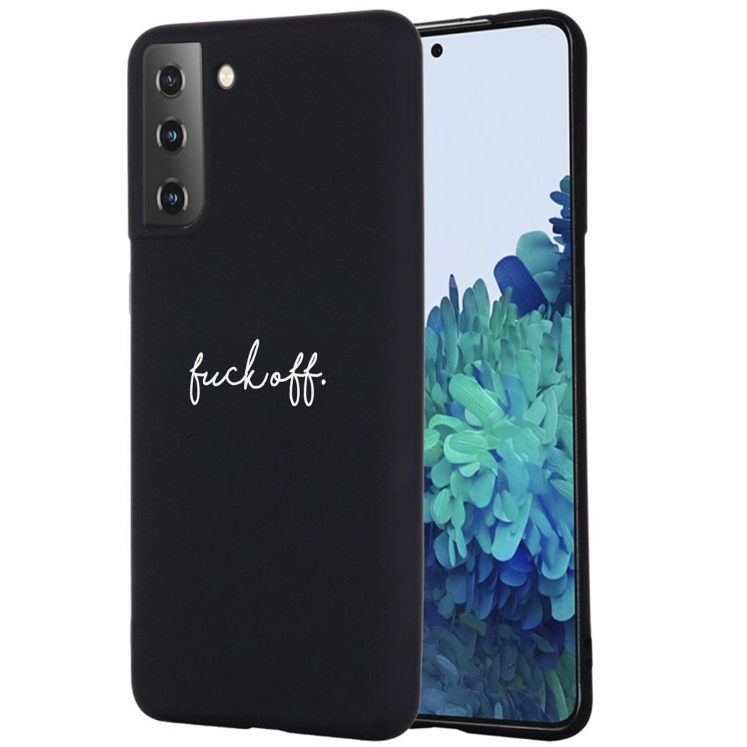 iMoshion Design hoesje Samsung Galaxy S21 - Fuck Off - Zwart