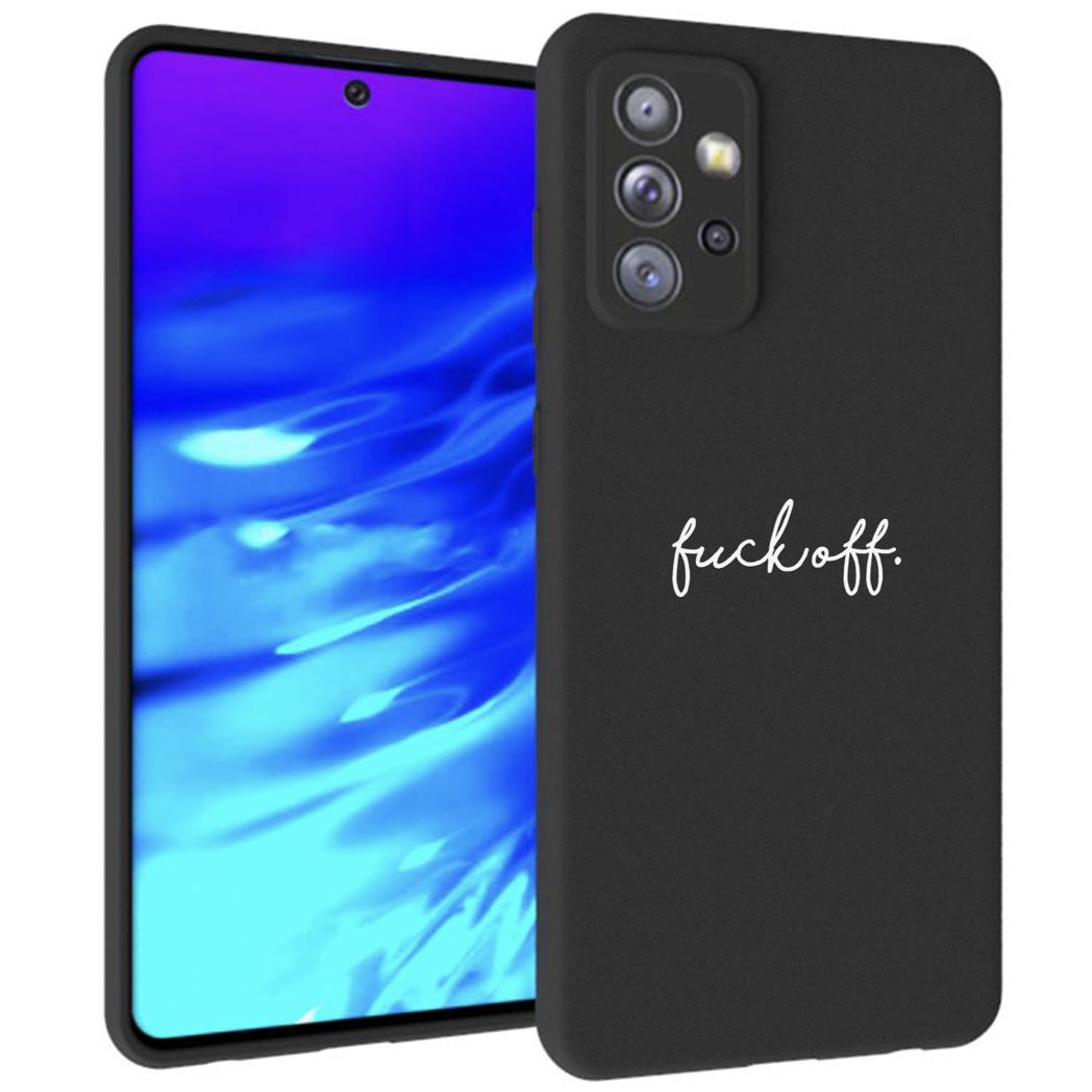 iMoshion Design hoesje Samsung Galaxy A72 - Fuck Off - Zwart
