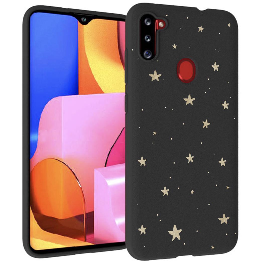iMoshion Design hoesje Galaxy M11 / A11 - Sterren - Goud / Zwart