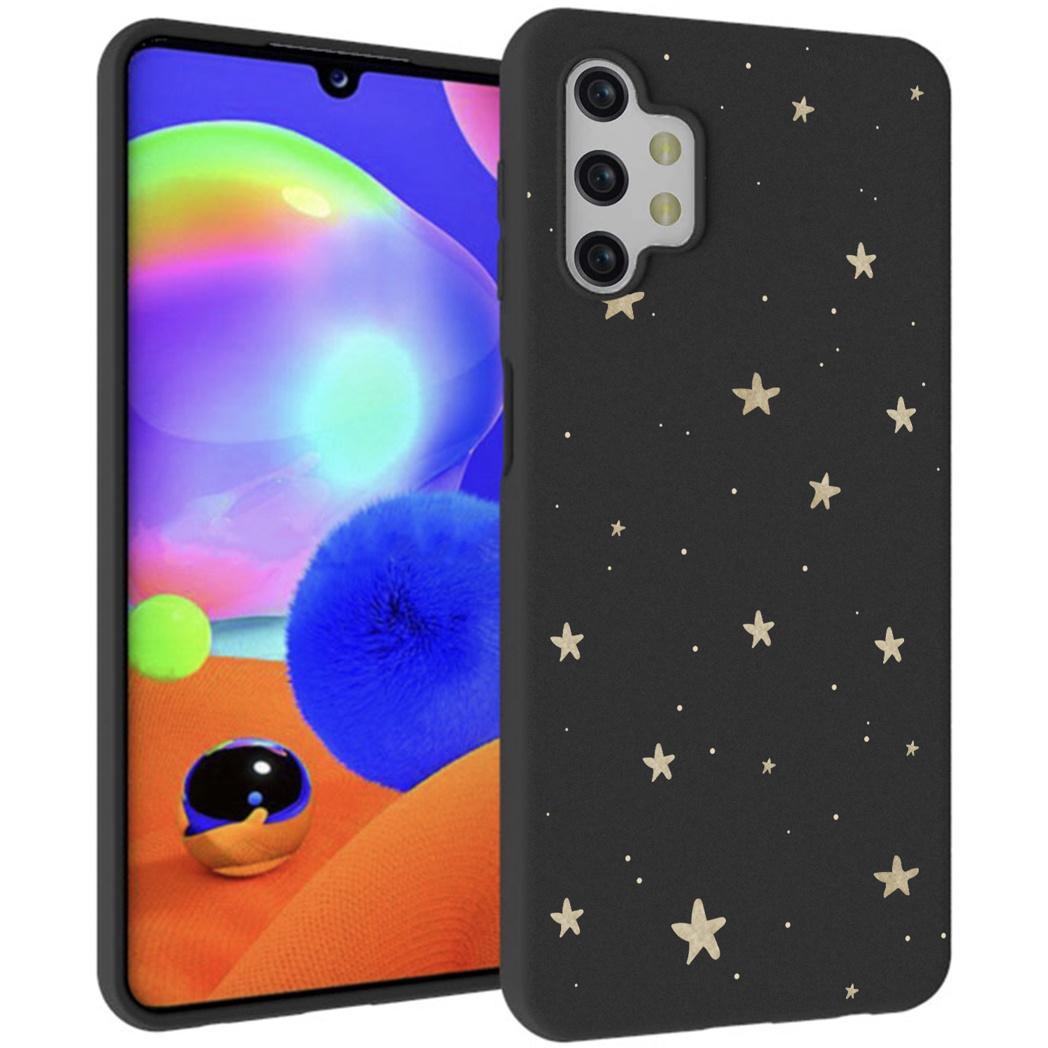 iMoshion Design hoesje Galaxy A32 (5G) - Sterren - Goud / Zwart