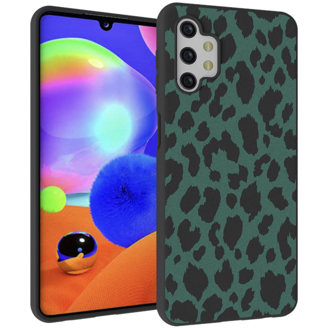 iMoshion Design hoesje Galaxy A32 (5G) - Luipaard - Groen / Zwart