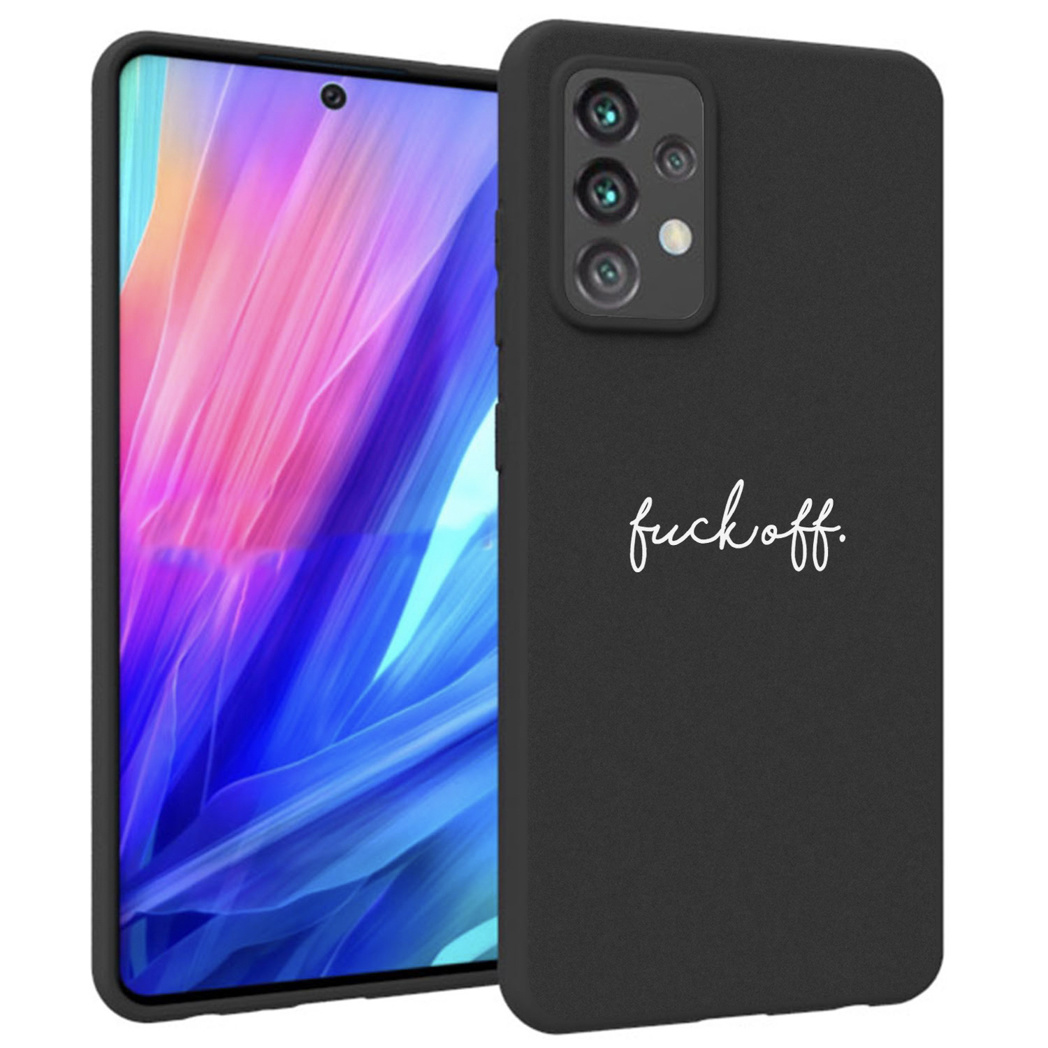 iMoshion Design hoesje Galaxy A52 (5G) / A52 (4G) - Fuck Off - Zwart
