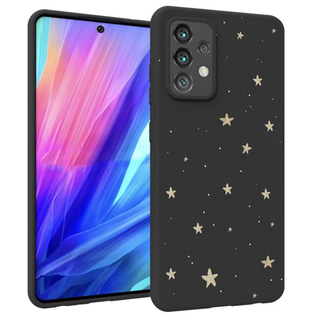 iMoshion Design hoesje Galaxy A52(s) (5G/4G) - Sterren - Goud / Zwart