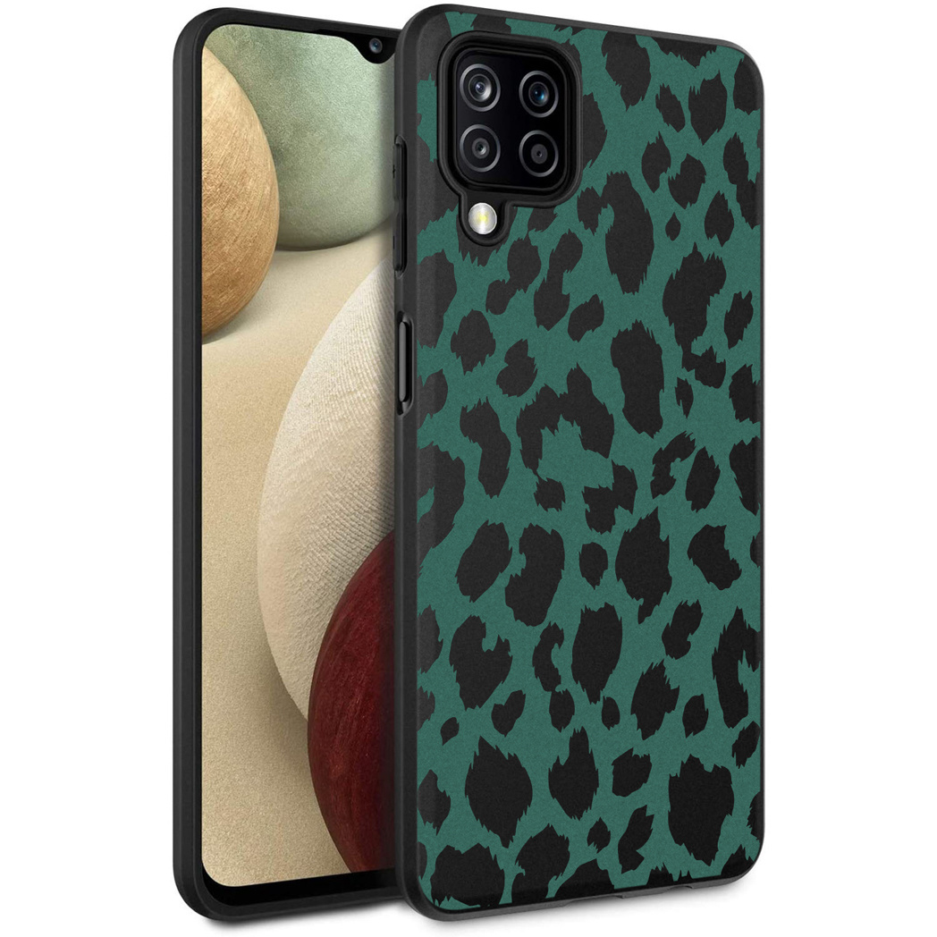 iMoshion Design hoesje Samsung Galaxy A12 - Luipaard - Groen / Zwart