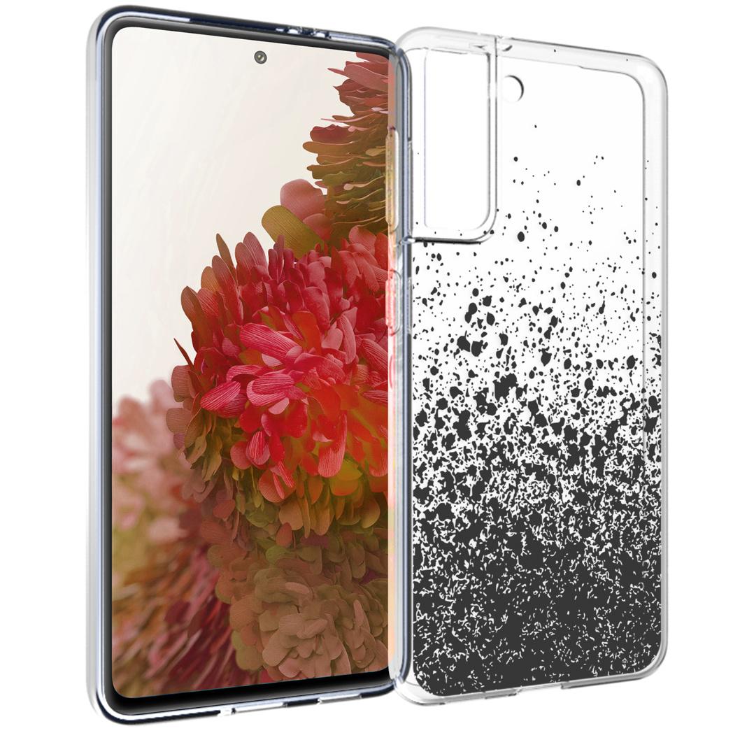 iMoshion Design hoesje Samsung Galaxy S21 - Spetters - Zwart