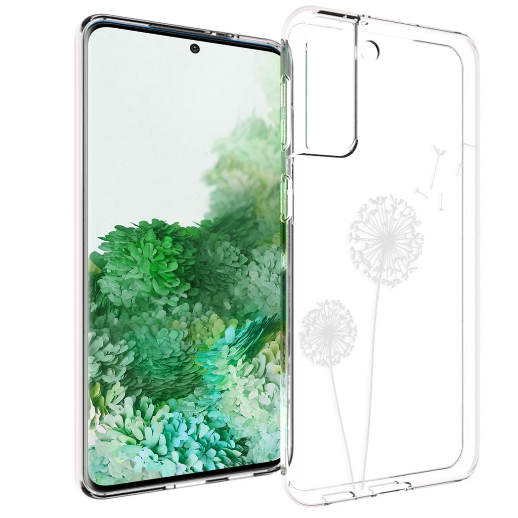 iMoshion Design hoesje Samsung Galaxy S21 Plus - Paardenbloem - Wit