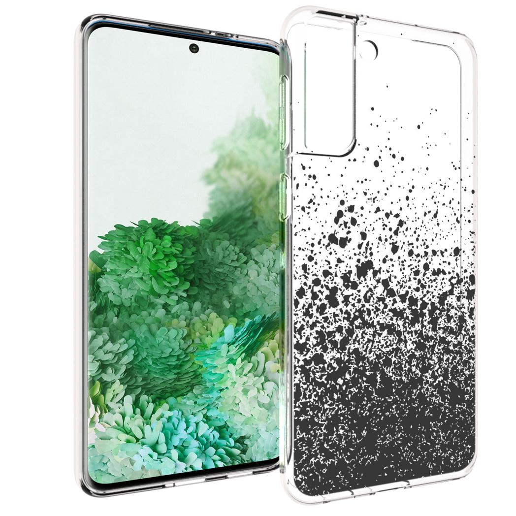 iMoshion Design hoesje Samsung Galaxy S21 Plus - Spetters - Zwart