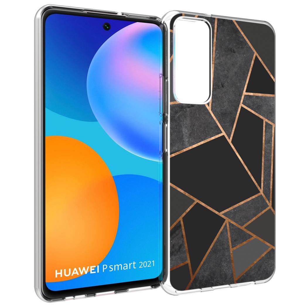 iMoshion Design hoesje Huawei P Smart (2021) - Grafisch Koper - Zwart