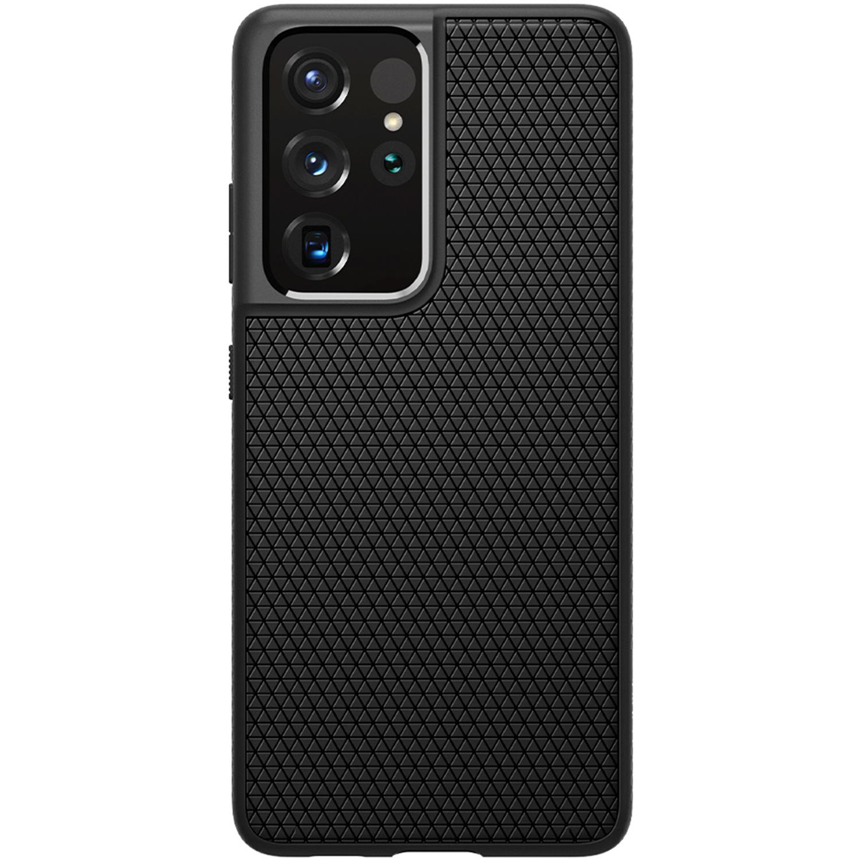Spigen Liquid Air Backcover Samsung Galaxy S21 Ultra - Zwart