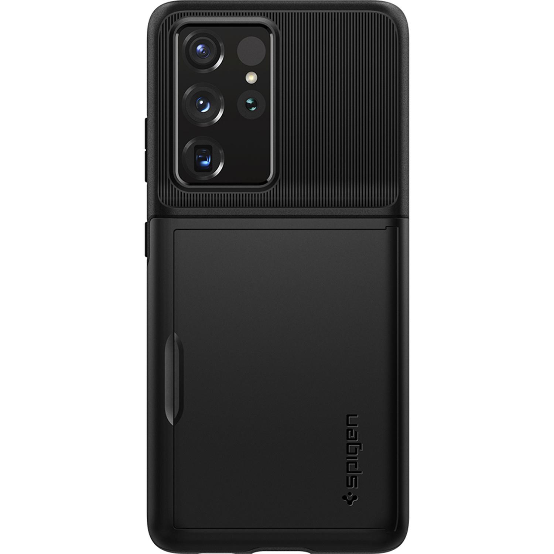 Spigen Slim Armor CS Backcover Samsung Galaxy S21 Ultra - Zwart
