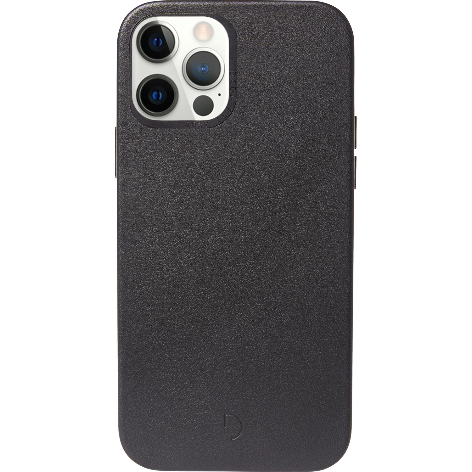 Decoded Leather Backcover MagSafe iPhone 12 (Pro) - Zwart