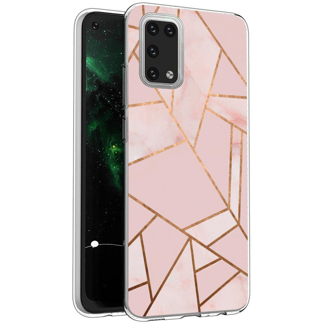 iMoshion Design hoesje Galaxy A02s - Grafisch Koper - Roze / Goud