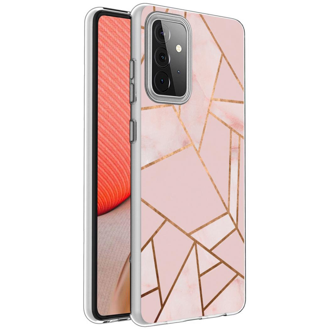iMoshion Design hoesje Galaxy A72 - Grafisch Koper - Roze / Goud