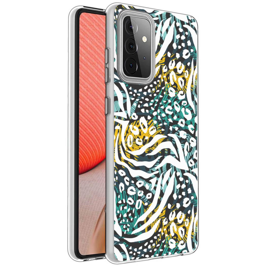 iMoshion Design hoesje Galaxy A72 - Jungle - Wit / Zwart / Groen