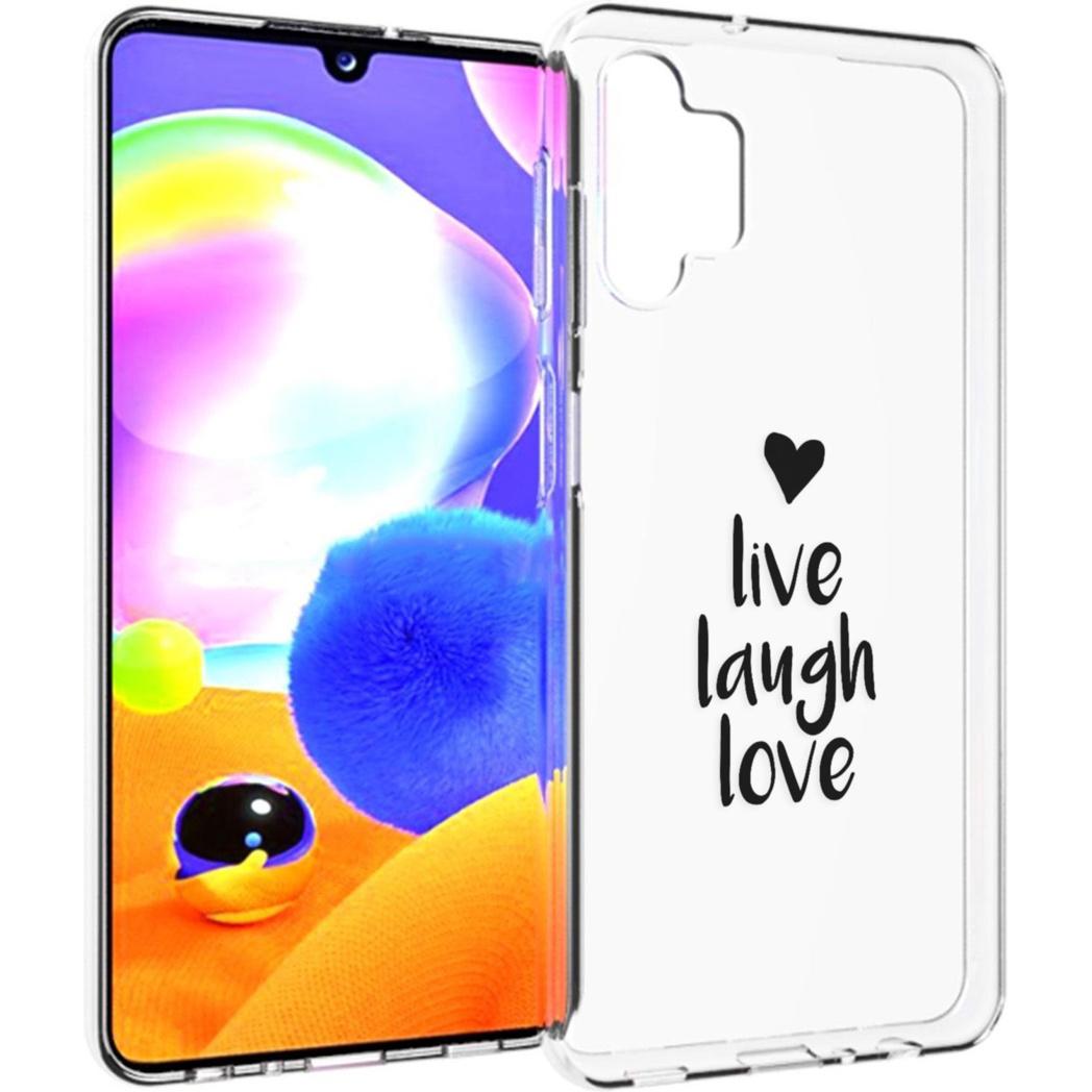 iMoshion Design hoesje Samsung Galaxy A32 (5G) - Live Laugh Love