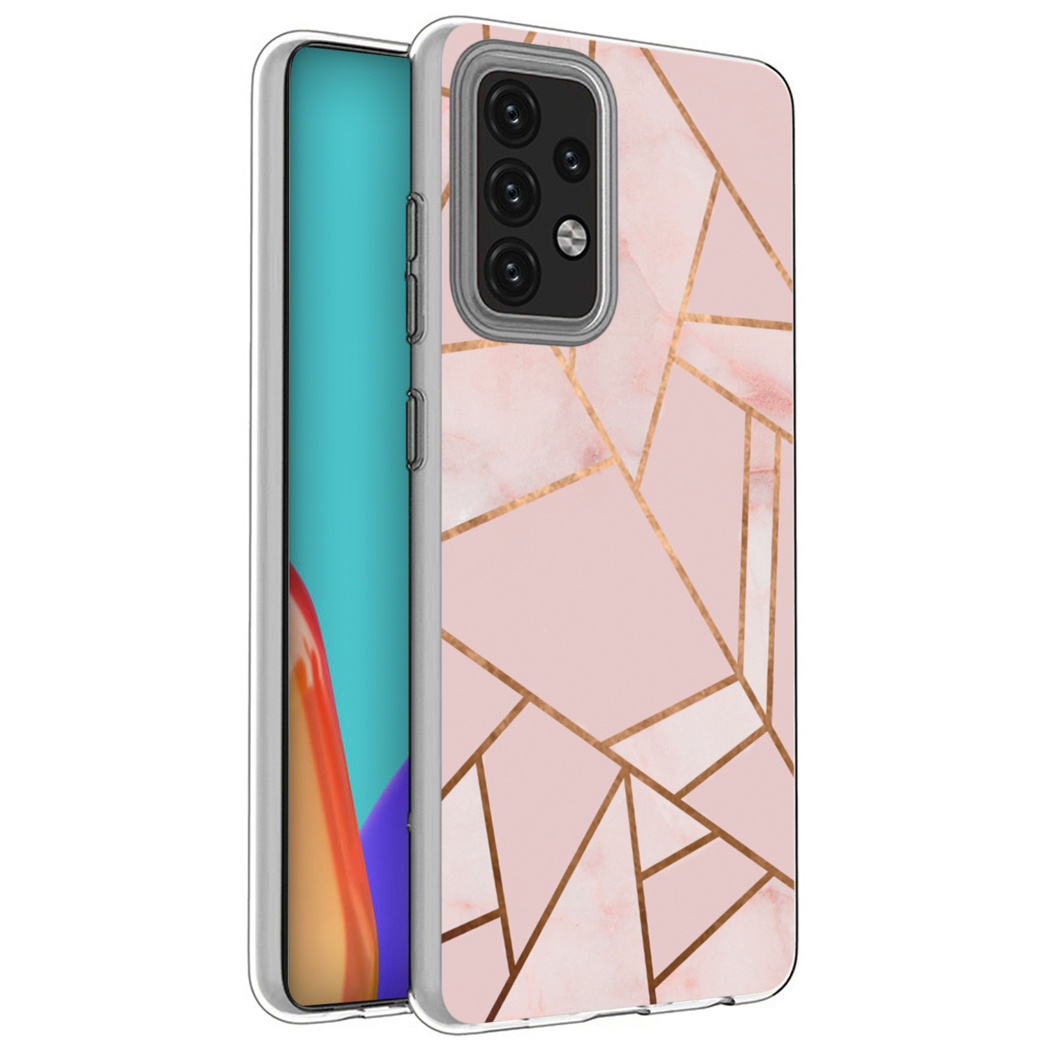 iMoshion Design hoesje Galaxy A52(s) (5G/4G) - Grafisch Koper - Roze