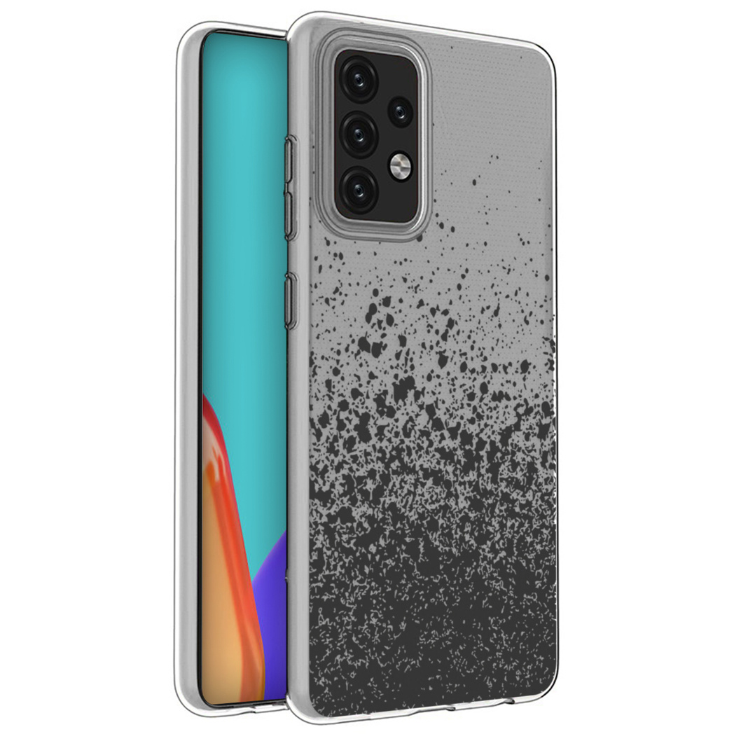 iMoshion Design hoesje Galaxy A52(s) (5G/4G) - Spetters - Zwart