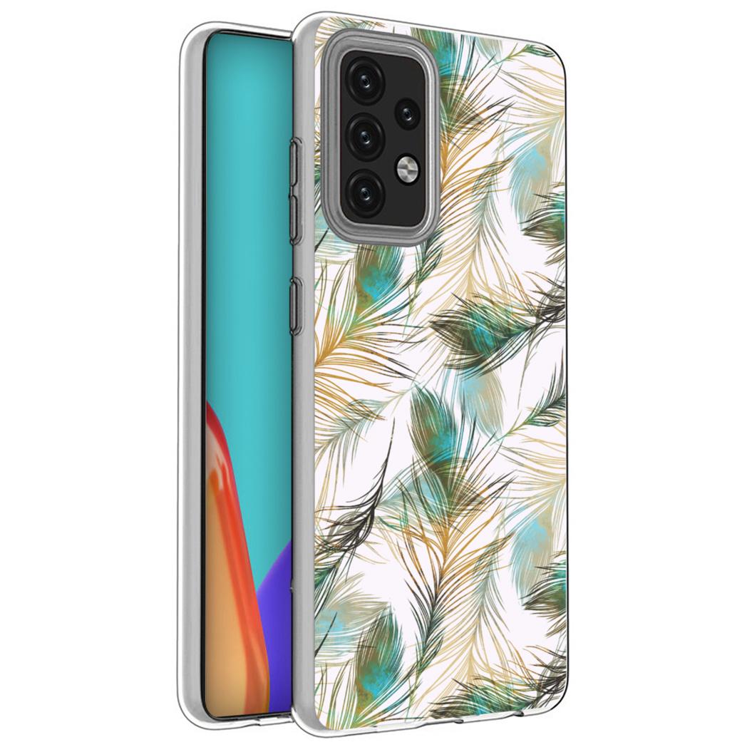 iMoshion Design hoesje Galaxy A52(s) (5G/4G) - Pauw - Groen / Goud