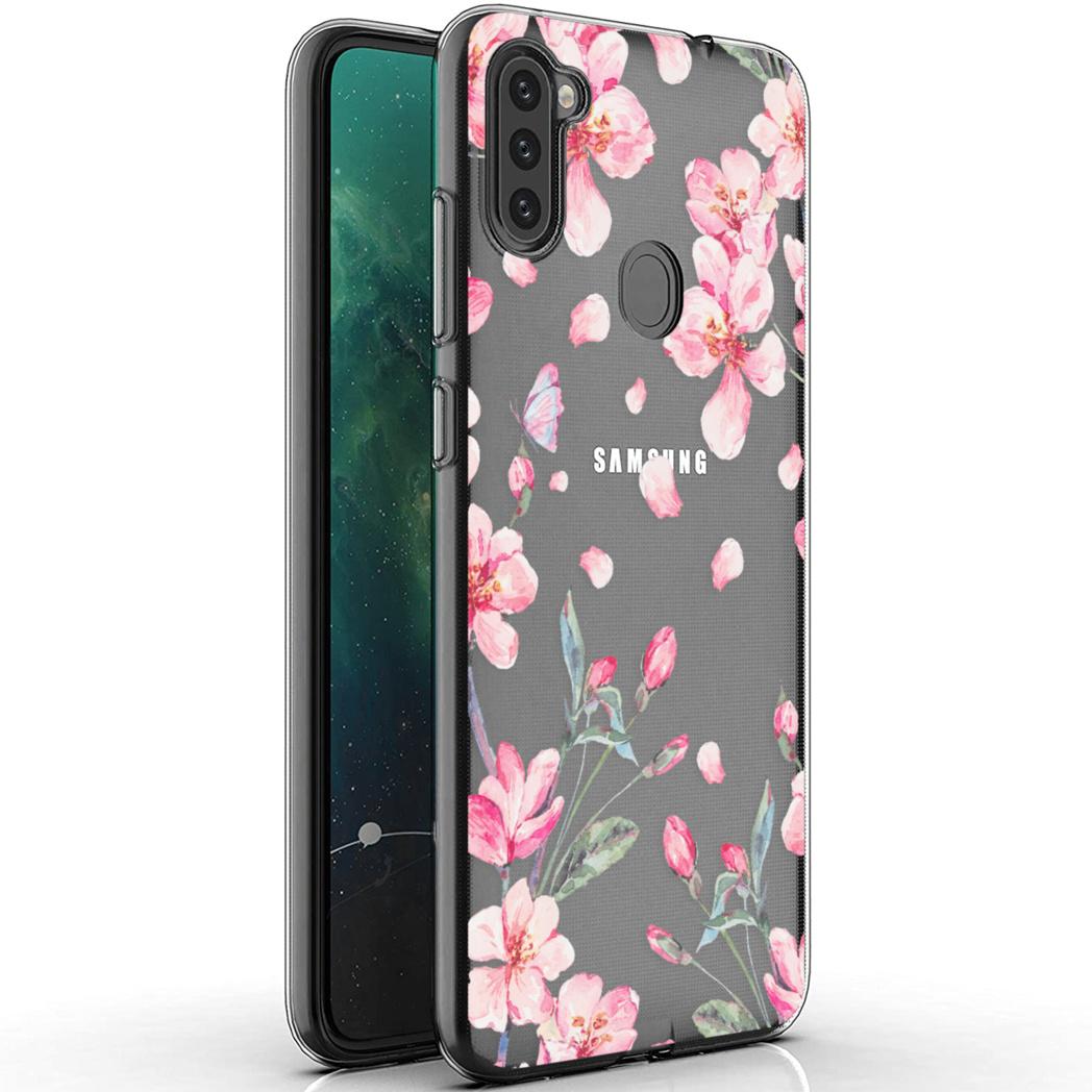 iMoshion Design hoesje Samsung Galaxy M11 / A11 - Bloem - Roze